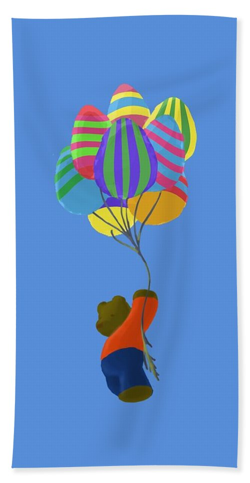 Easter Hand Towel featuring the painting It's A Bird, It's A Plane, It's Easter by Jason Sharpe