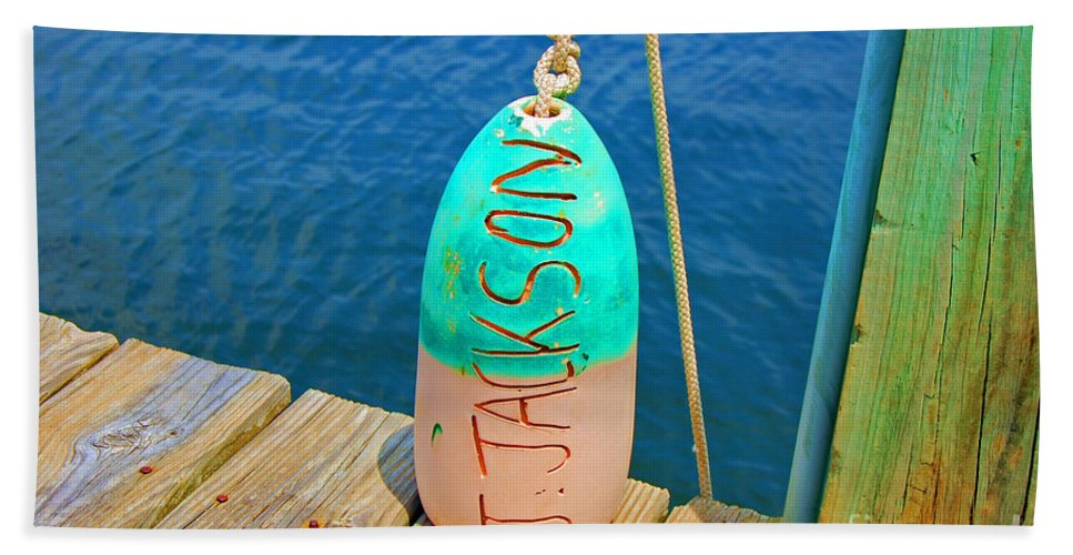 Water Hand Towel featuring the photograph Its A Buoy by Debbi Granruth