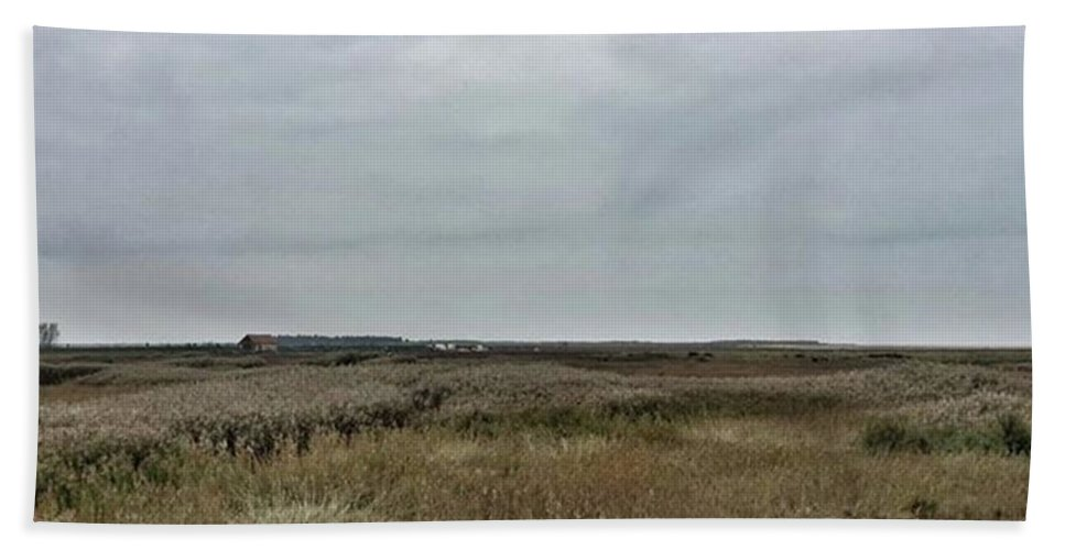 Natureonly Bath Towel featuring the photograph It's A Grey Day In North Norfolk Today by John Edwards