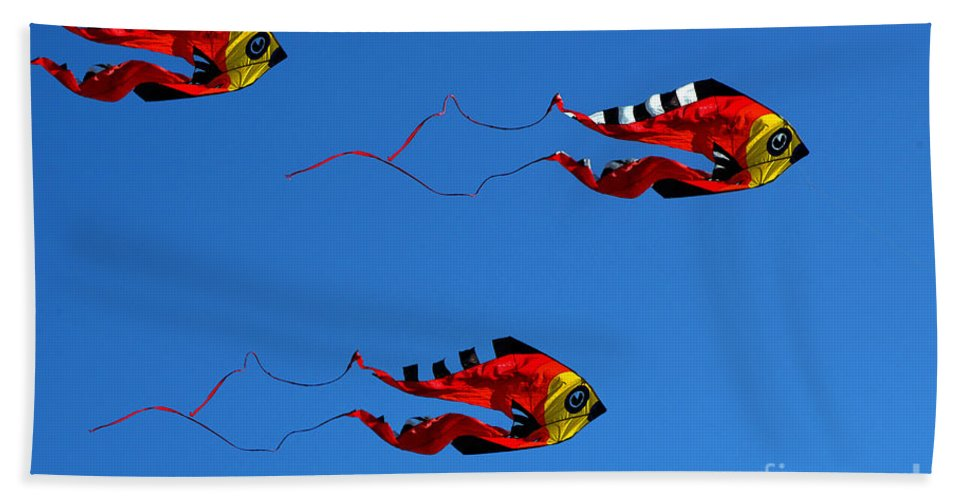Clay Hand Towel featuring the photograph It's A Kite Kind Of Day by Clayton Bruster