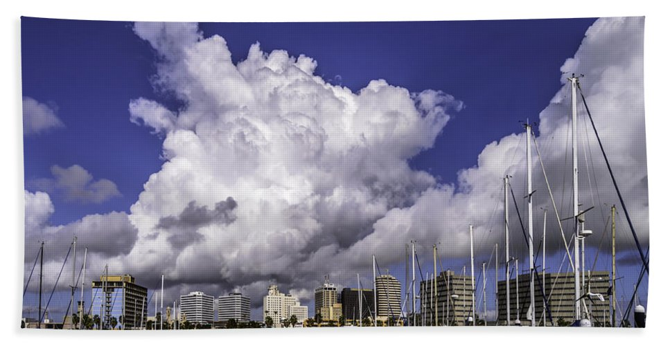 Rain Hand Towel featuring the photograph It's All About The Clouds by Leticia Latocki