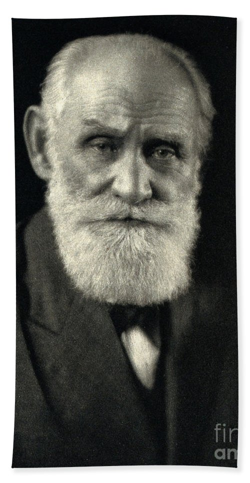 History Bath Sheet featuring the photograph Ivan Pavlov, Russian Physiologist by Wellcome Images