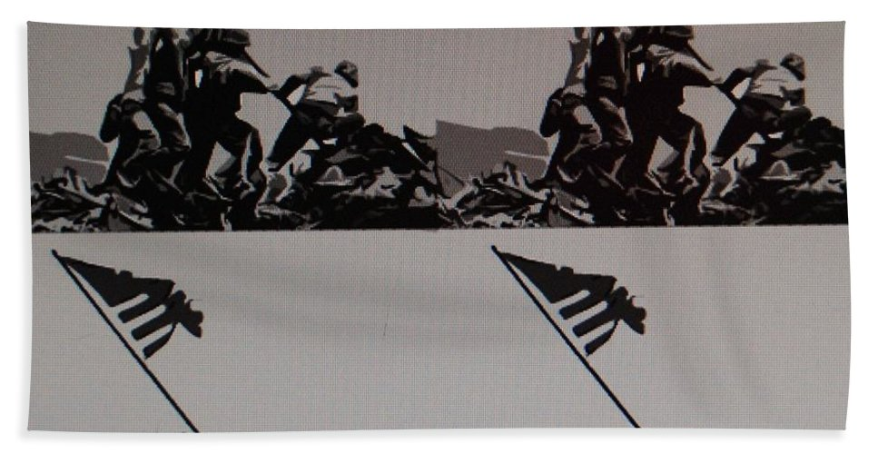 Pop Art Hand Towel featuring the photograph Iwo Jima by Rob Hans