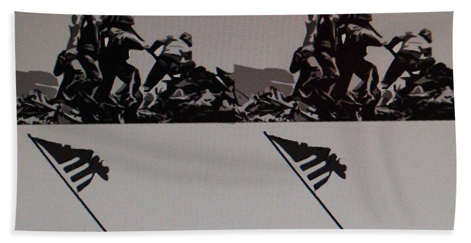 Pop Art Bath Sheet featuring the photograph Iwo Jima by Rob Hans