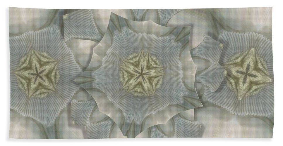 Collage Bath Sheet featuring the photograph Jacket Flowers by Ron Bissett