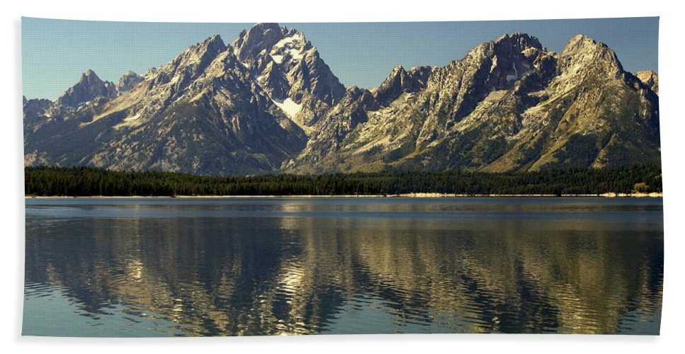 Grand Teton National Park Hand Towel featuring the photograph Jackson Lake 2 by Marty Koch