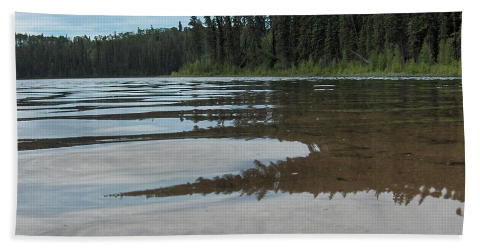 Jade Lake Piprell Lake Hanson Lake Road Northern Saskatchewan Water Clear Forest Trees Hand Towel featuring the photograph Jade Lake by Andrea Lawrence