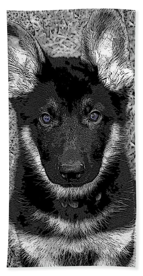 Dog Hand Towel featuring the digital art Jager by Stacey May