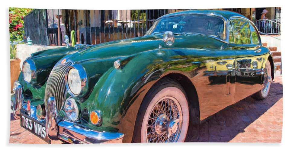 Arizona Bath Sheet featuring the photograph Jaguar Xk Classic by Dan McManus
