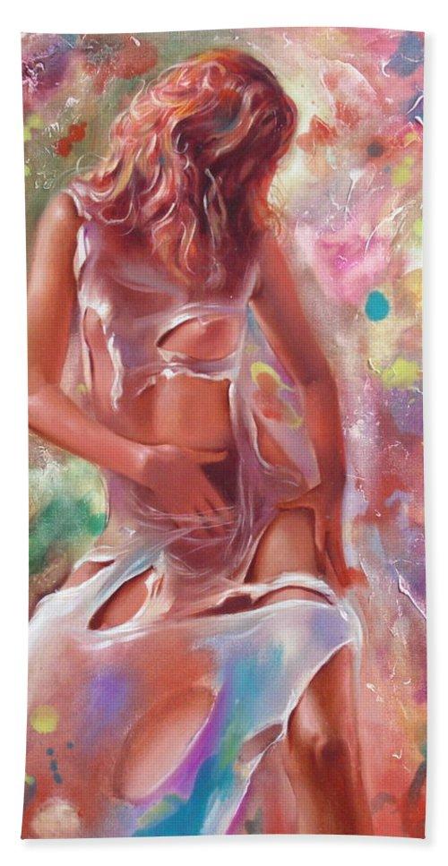 Ignatenko Hand Towel featuring the painting Jam by Sergey Ignatenko