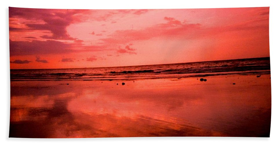Sunset Bath Sheet featuring the photograph Jamaica Sunset by Ian MacDonald