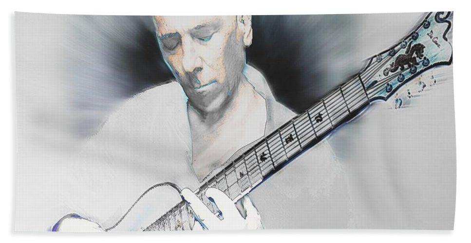 Art Bath Sheet featuring the digital art Jamming On Jazz by RC DeWinter