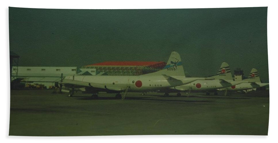 Airplane Bath Sheet featuring the photograph Japanese Airforce by Rob Hans