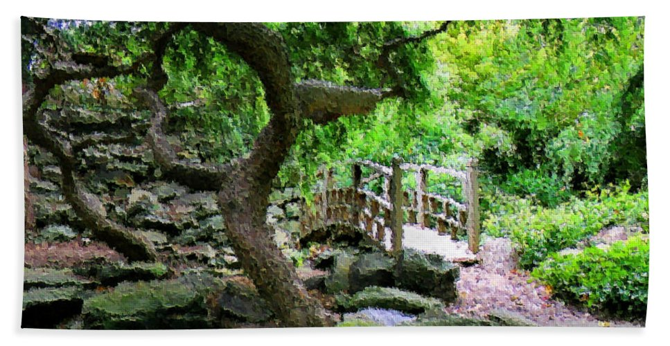 Garden Hand Towel featuring the photograph Japanese Garden by Kristin Elmquist