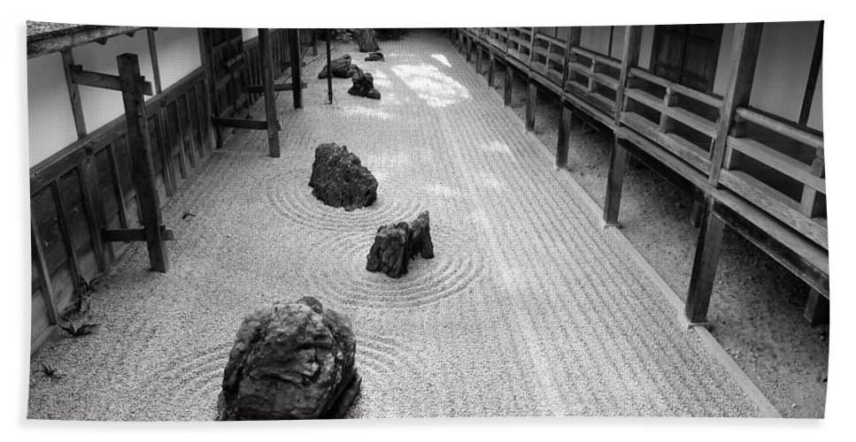 Japan Hand Towel featuring the photograph Japanese Zen Garden by Sebastian Musial