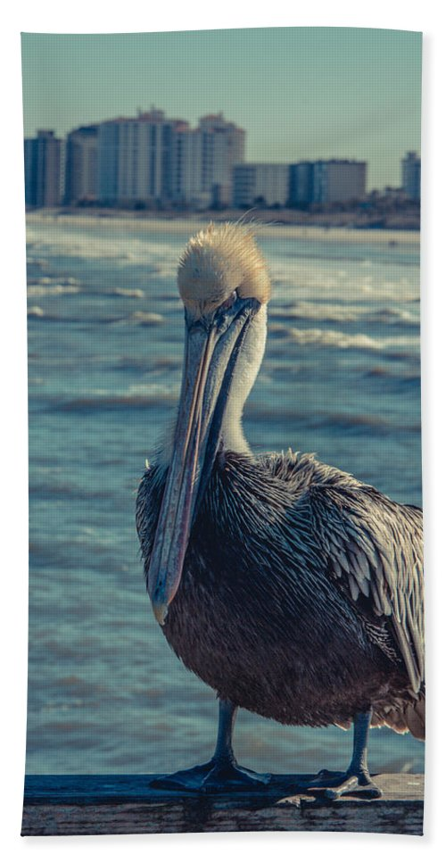 Pelican Bath Sheet featuring the photograph Jax Beach by Rockland Filmworks