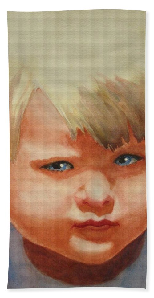 Child Bath Sheet featuring the painting Jean by Marilyn Jacobson