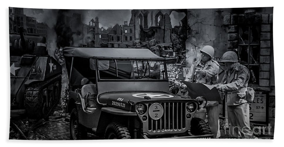 Jeep Bath Sheet featuring the photograph Jeep by Ronald Grogan