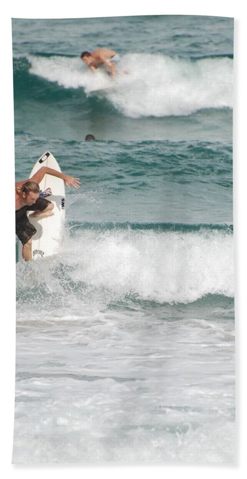 Ocean Hand Towel featuring the photograph Jeff Spicolli by Rob Hans