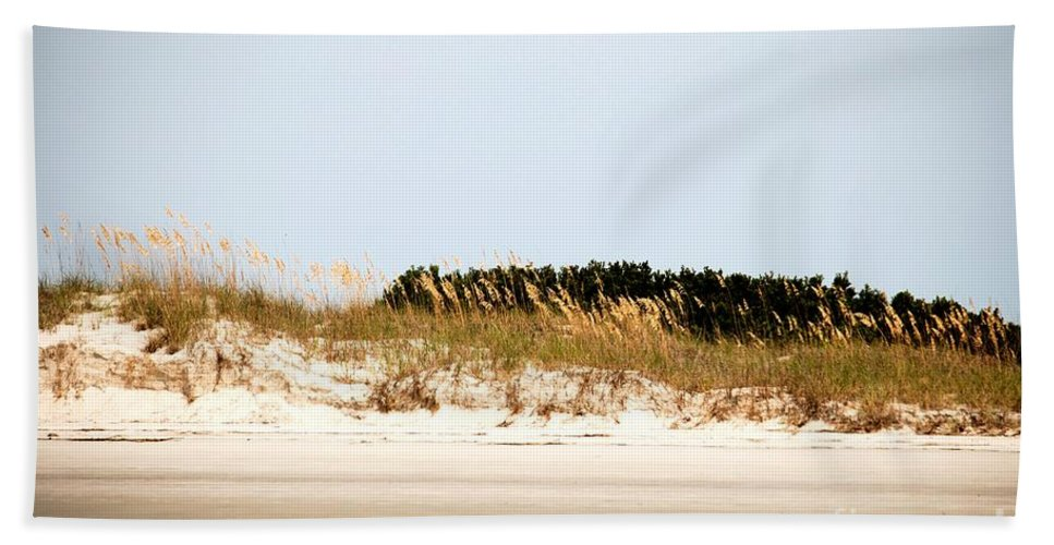Jekyll Island Hand Towel featuring the photograph Jekyll From The Water by Katherine W Morse