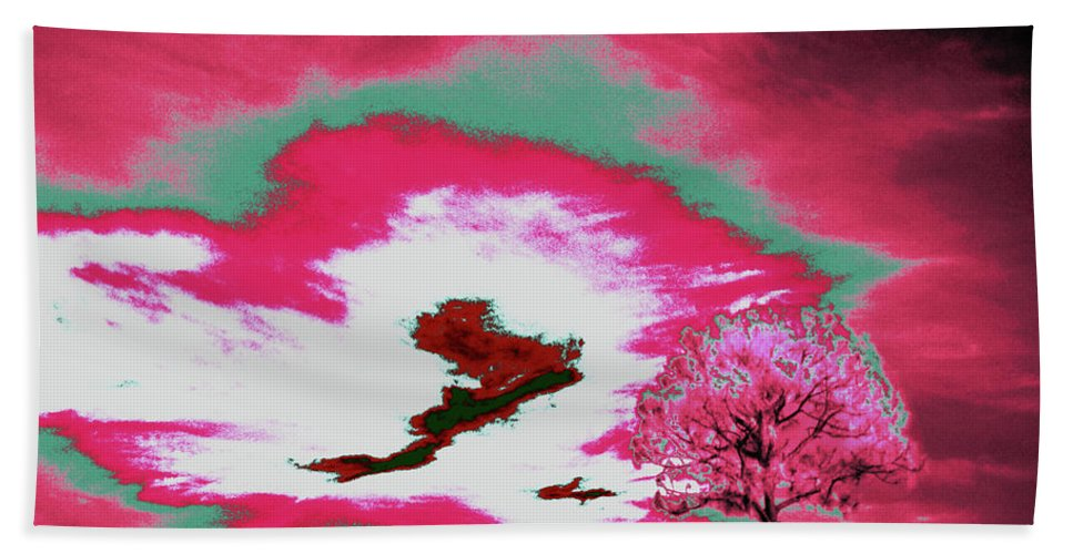 Trees Hand Towel featuring the photograph Jelks Pine 9 by Gary Bartoloni