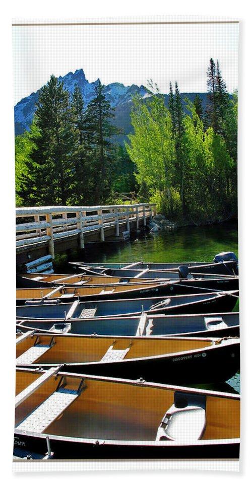 Boats Hand Towel featuring the photograph Jenny Lake Boats by Joan Minchak