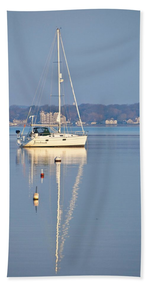 Yacht Hand Towel featuring the photograph Jerobaum by Steven Natanson