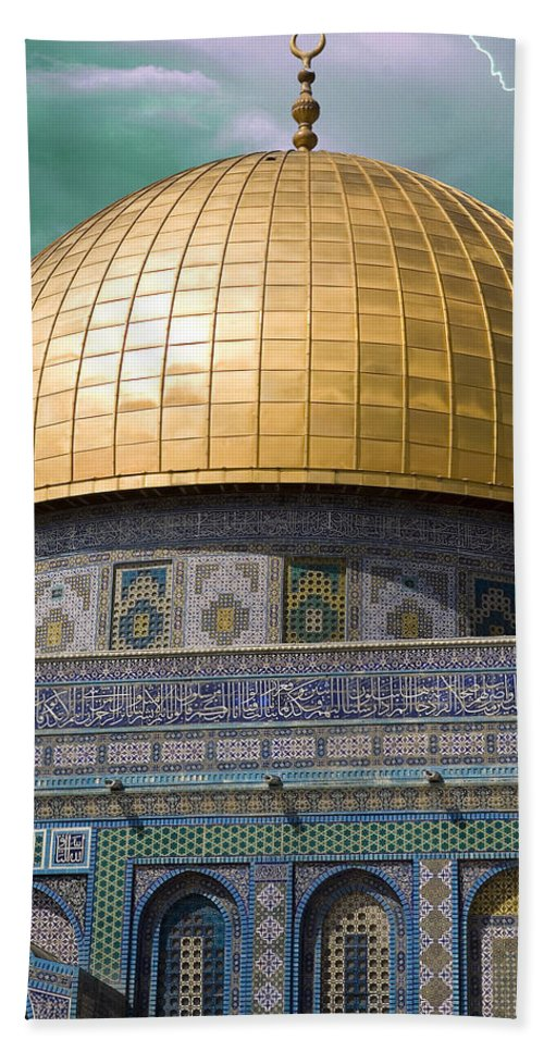 Jerusalem Hand Towel featuring the photograph Jerusalem - Dome Of The Rock by Munir Alawi