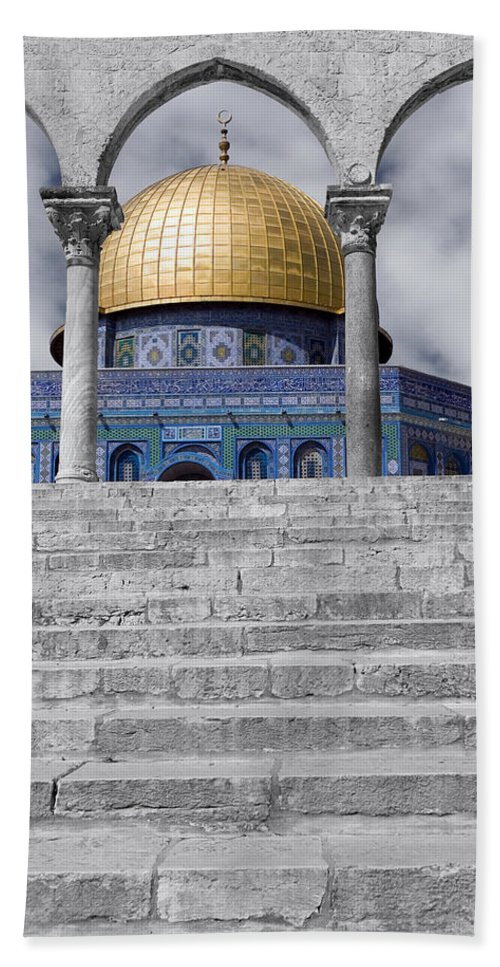 Dome Of The Rock Hand Towel featuring the photograph Jerusalem - The Dome by Munir Alawi