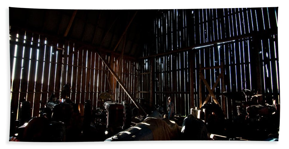 Barn Hand Towel featuring the photograph Jesse's In The Barn by Steven Dunn