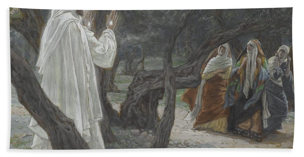 Tissot Bath Sheet featuring the painting Jesus Appears To The Holy Women by Tissot