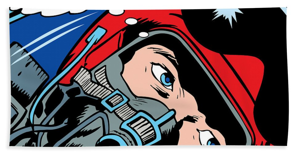 Digital Bath Sheet featuring the painting Jet Pilot by Gary Grayson