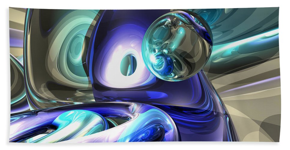 3d Bath Sheet featuring the digital art Jewel Of The Nile Abstract by Alexander Butler
