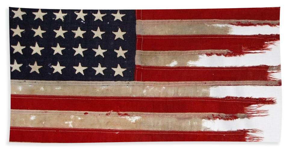 Flag Bath Towel featuring the photograph Jfk's Pt-109 Flag by Lori Pessin Lafargue