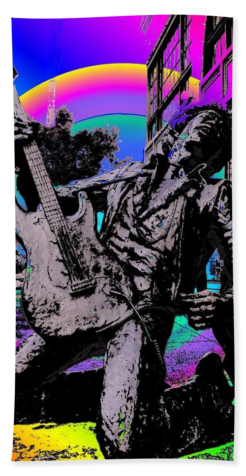 Seattle Bath Towel featuring the photograph Jimi Hendrix by Tim Allen