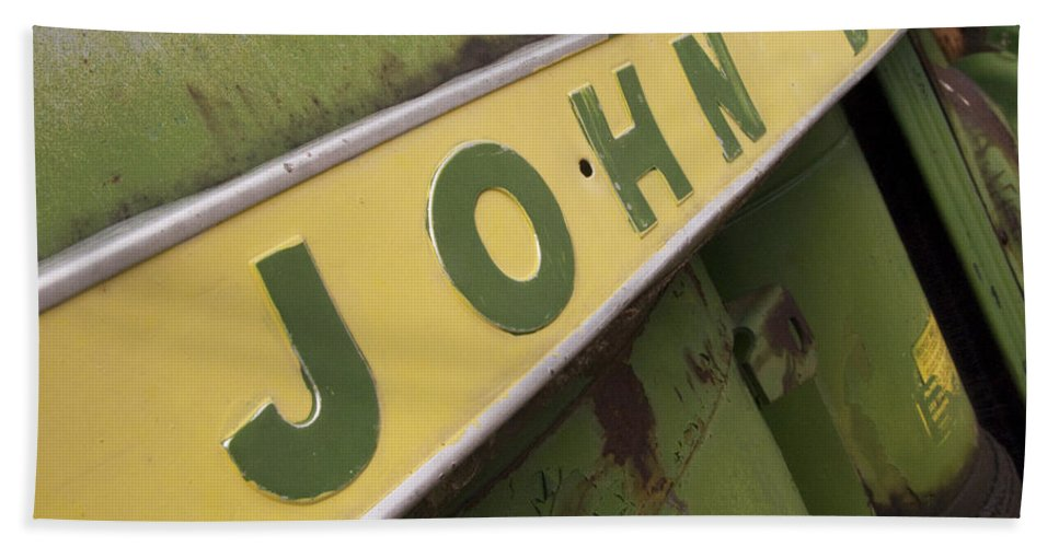 John Deere Bath Towel featuring the photograph John Deere by Jeffery Ball