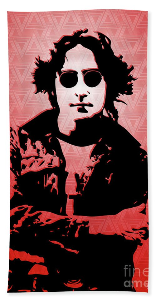 Art Hand Towel featuring the digital art John Lennon - Imagine - Pop Art by William Cuccio aka WCSmack