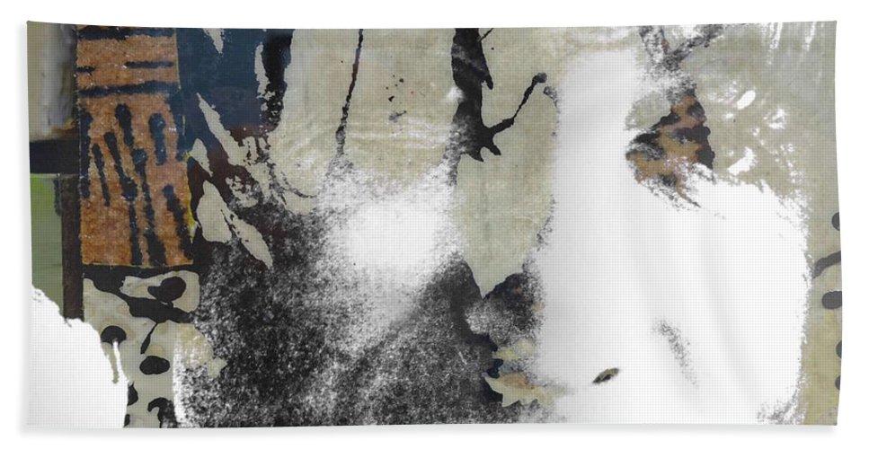 The Beatles Bath Towel featuring the digital art John Lennon - In My Life by Paul Lovering