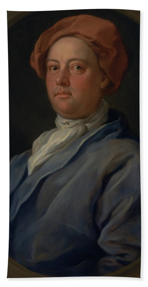 William Hogarth Hand Towel featuring the painting John Palmer, Barrister Of The Inner Temple by William Hogarth