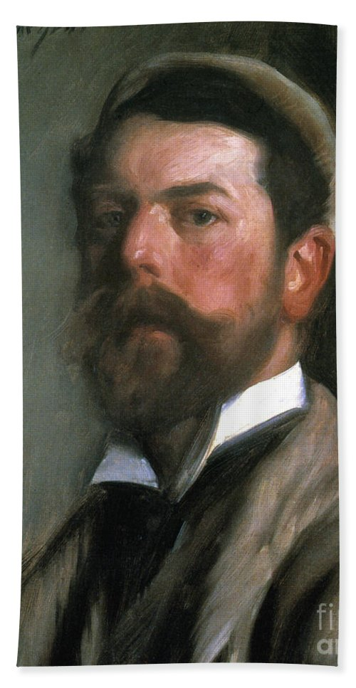 1892 Hand Towel featuring the photograph John Singer Sargent by Granger