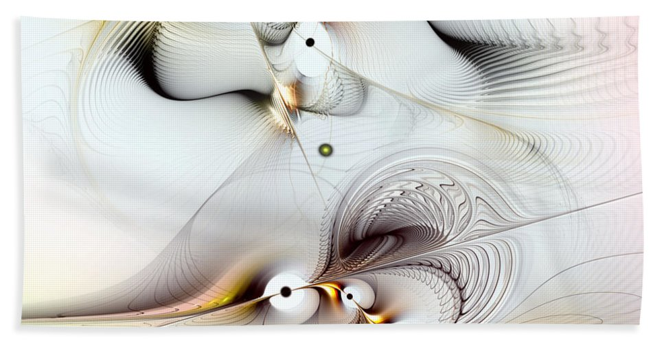 Abstract Bath Sheet featuring the digital art Journey To Ecstasy by Casey Kotas