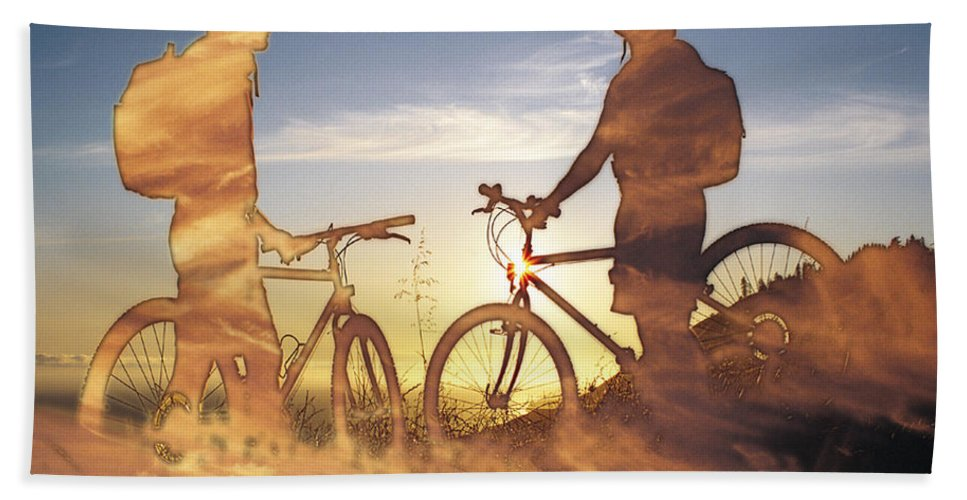 Clouds Hand Towel featuring the photograph Journeys End by Tim Allen