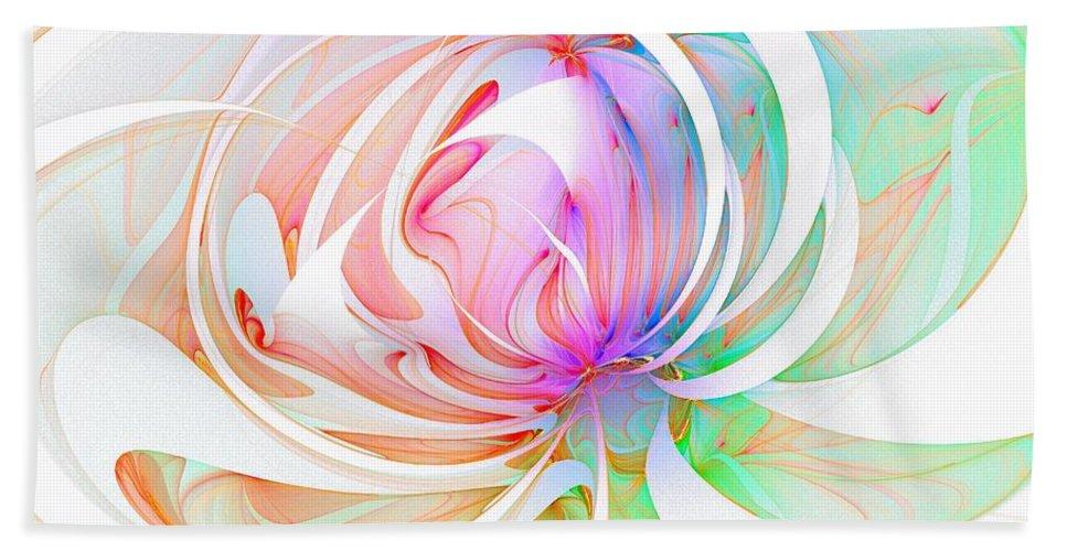 Digital Art Bath Sheet featuring the digital art Joy by Amanda Moore
