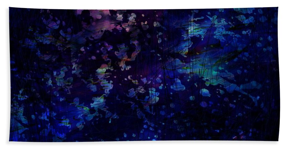 Abstract Hand Towel featuring the digital art Joy Comes In The Morning by Rachel Christine Nowicki