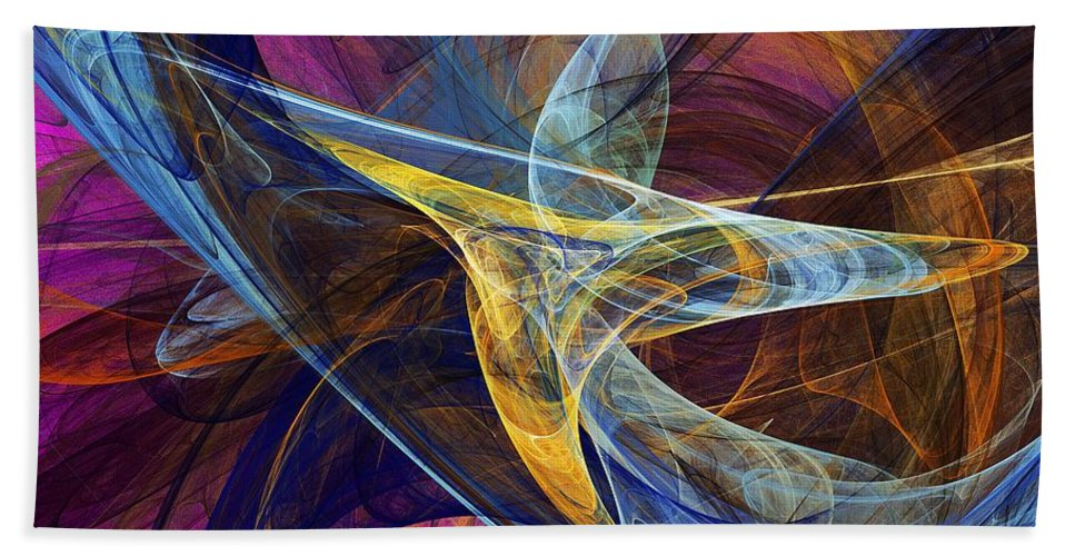 Fractal Hand Towel featuring the digital art Joy by David Lane