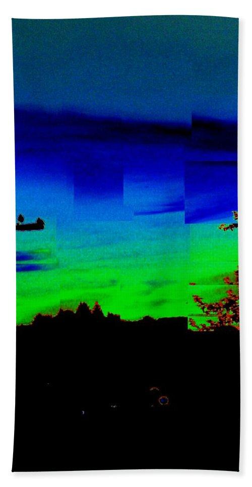 Sunset Bath Sheet featuring the photograph Joyin The Sunset Together by Tim Allen