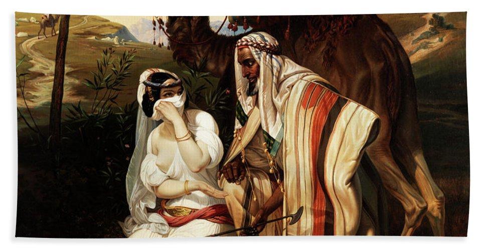 Judah and Tamar Bath Towel for Sale by Emile Jean Horace Vernet