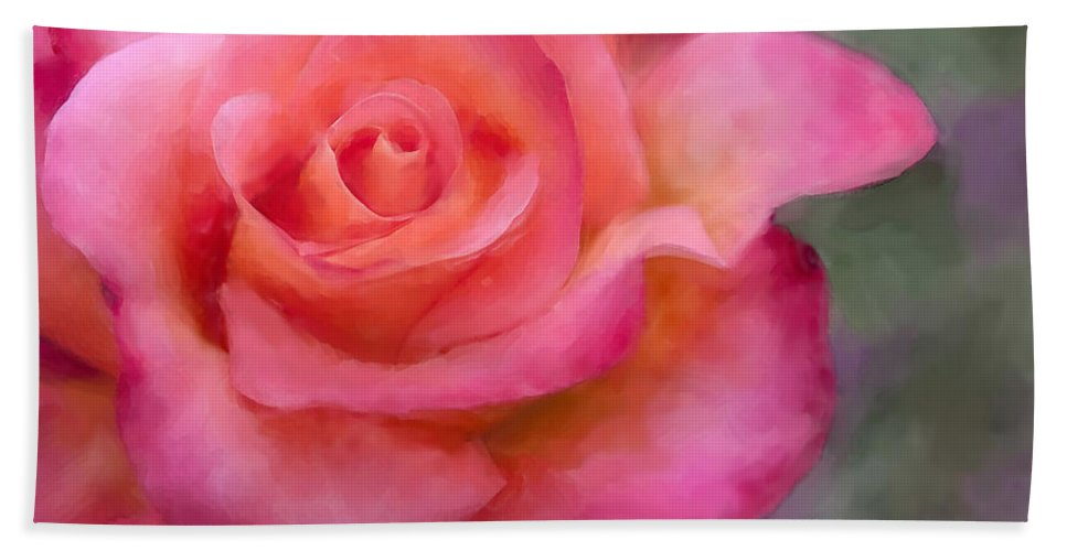 Rose Hand Towel featuring the photograph Judys Rose by Jeanette Mahoney