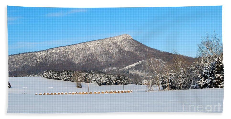 Jump Mountain Bath Sheet featuring the photograph Jump Mountain by Todd Hostetter