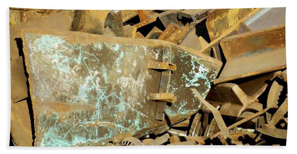 Junk Bath Sheet featuring the photograph Junk 11 by Anita Burgermeister